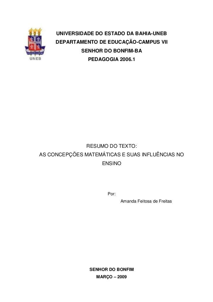 -232410-118110UNIVERSIDADE DO ESTADO DA BAHIA-UNEB<br />DEPARTAMENTO DE EDUCAÇÃO-CAMPUS VII<br />SENHOR DO BONFIM-BA<br />...