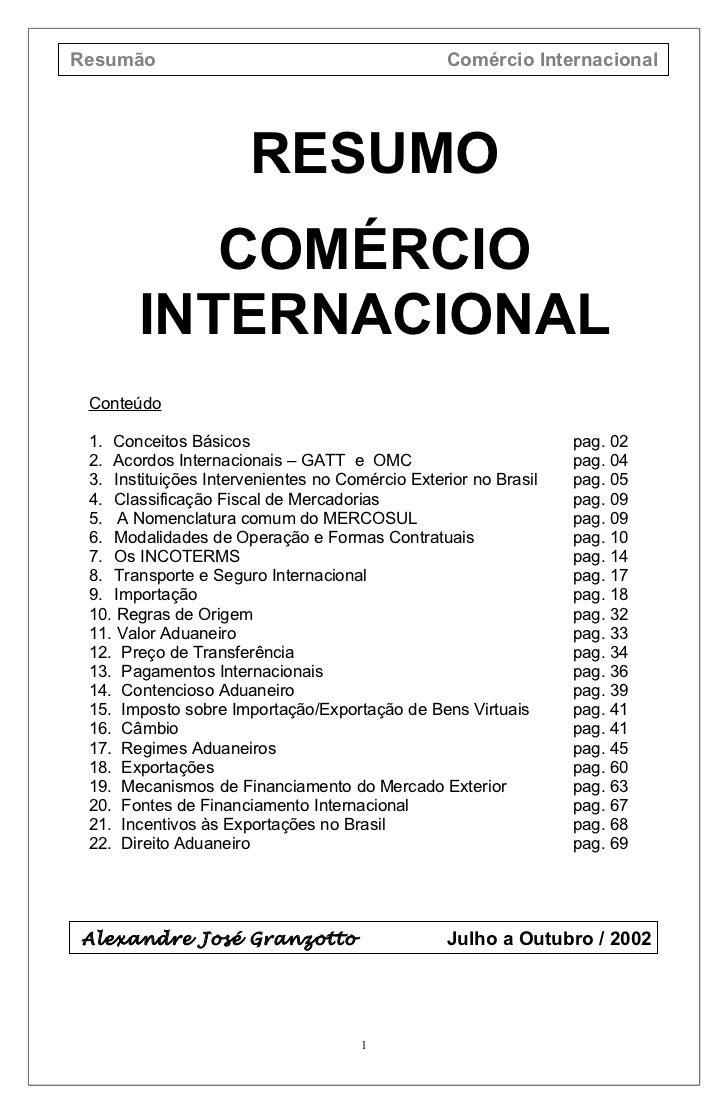Resumo com-comercio internacional