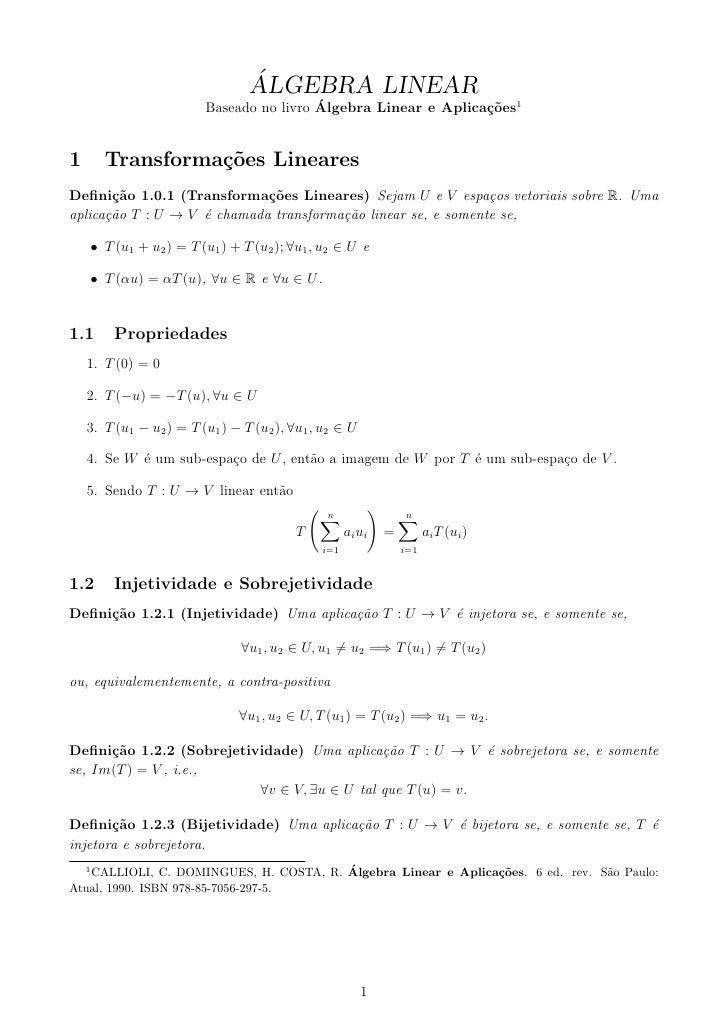 Resumo - Álgebra Linear