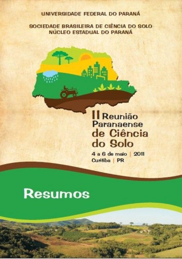 RESUMOS II Reunião Paranaense de Ciência do Solo