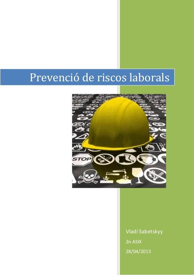 Resum prevencio riscos laborals