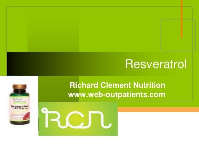 Company LOGO Resveratrol Richard Clement Nutrition www.web-outpatients.com