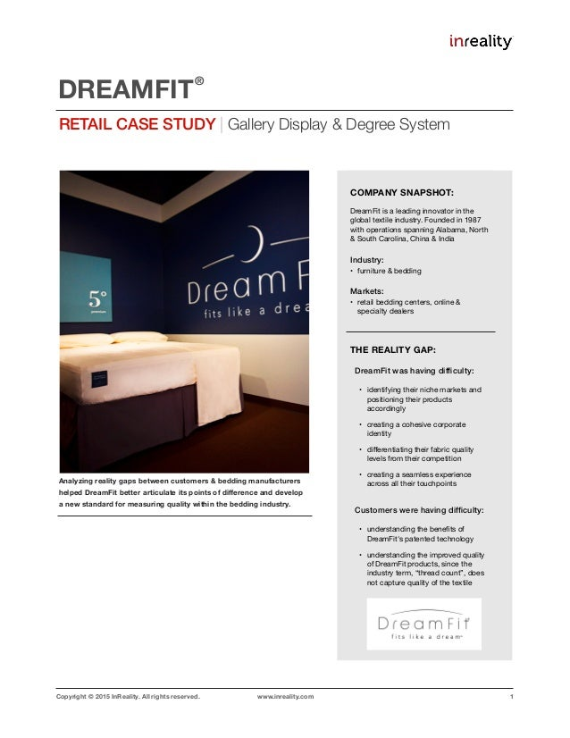 Copyright © 2015 InReality. All rights reserved. www.inreality.com 1 Analyzing reality gaps between customers & bedding ma...