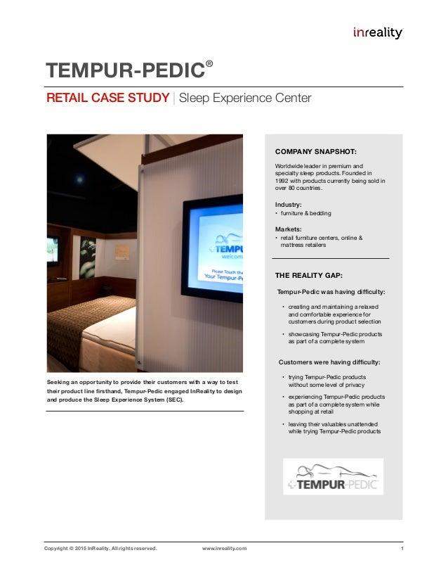 Retail Case Study: TEMPUR-PEDIC SEC