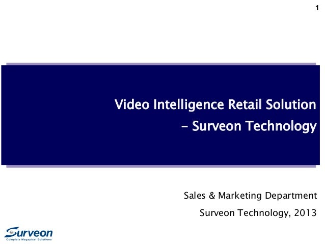 Surveon Megapixel Retail Solution