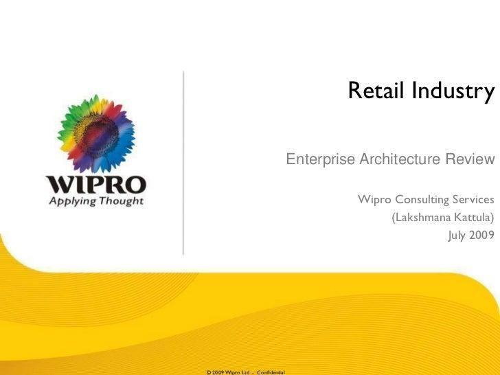 Retail Industry                                  Enterprise Architecture Review                                           ...