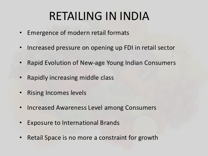 evolution of retailing in india