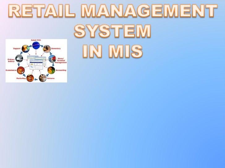 Retail managment ppt