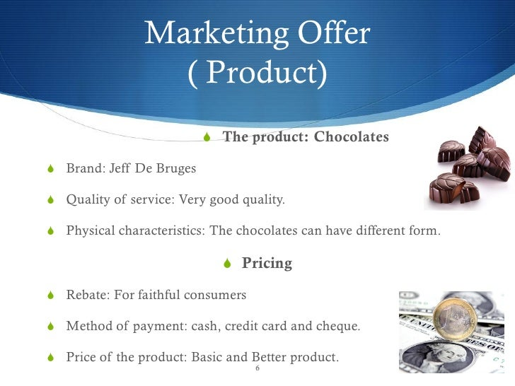 Free Marketing Plan Sample Of A Chocolate Retail And