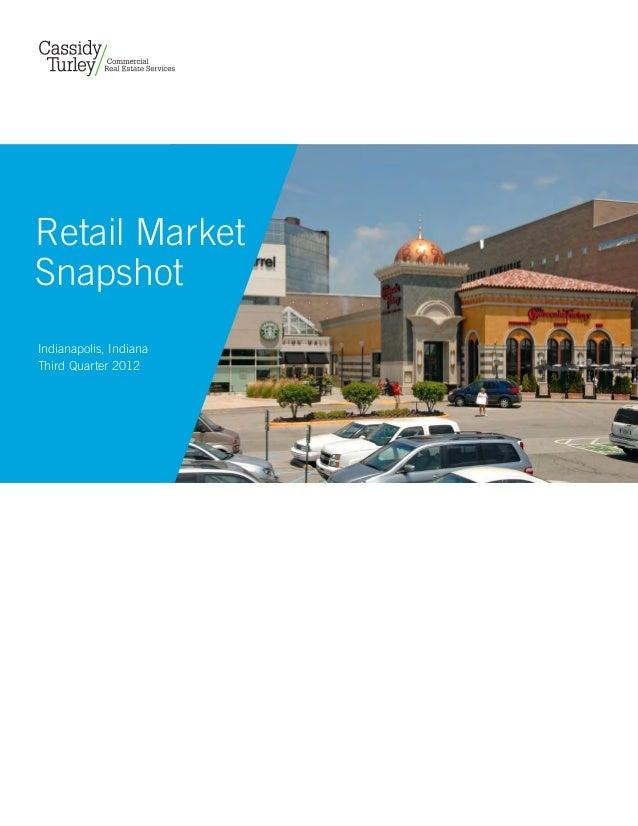 Retail MarketSnapshotIndianapolis, IndianaThird Quarter 2012
