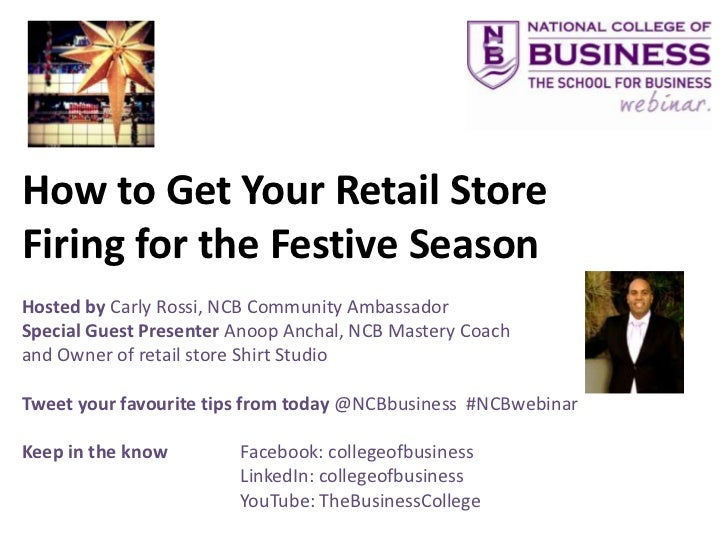 How to Get Your Retail Store Firing for the Festive Season - National College of Business