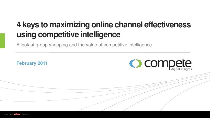 4 Keys to Maximizing Online Channel Effectiveness Using Competitive Intelligence
