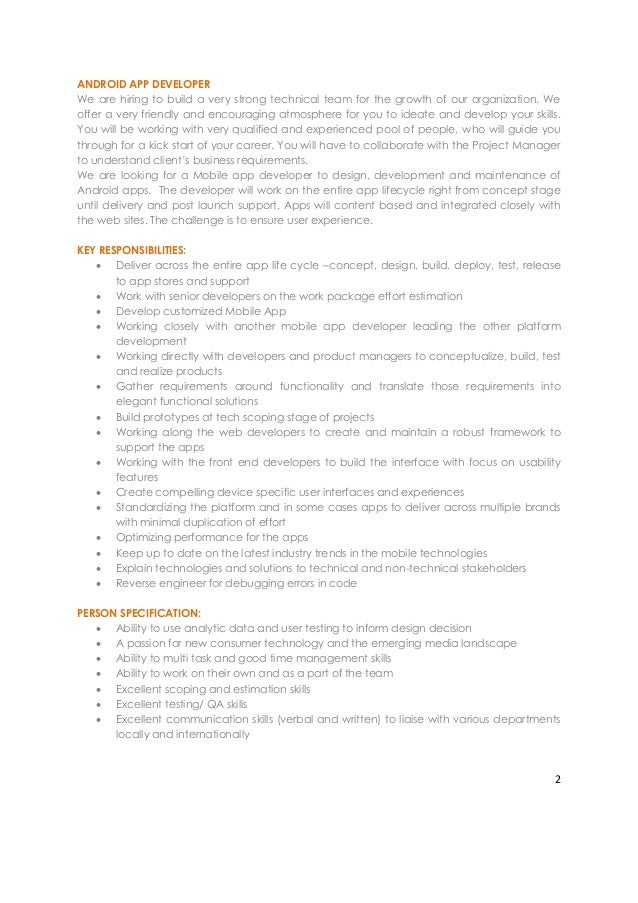 is hiring android app developer in bangalore