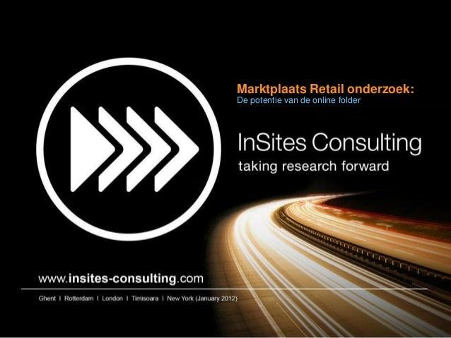 Marktplaats Retail onderzoek:De potentie van de online folder