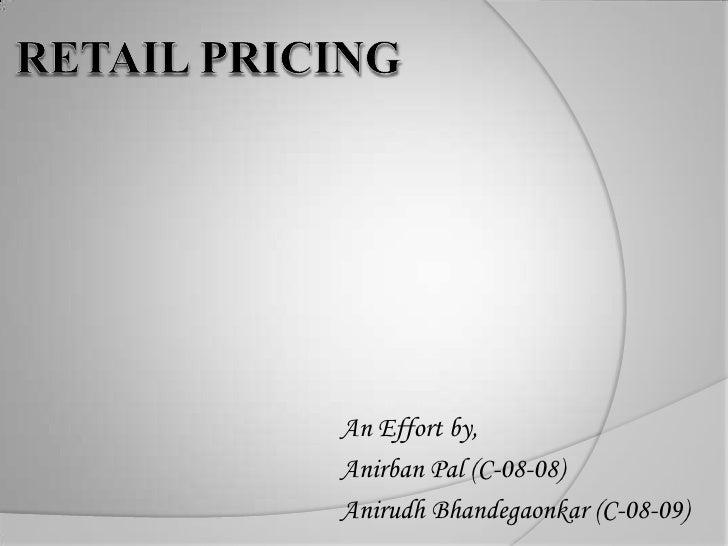 Retail Pricing 1