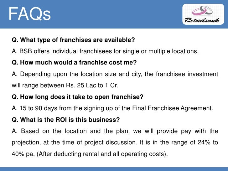Franchise model business plan