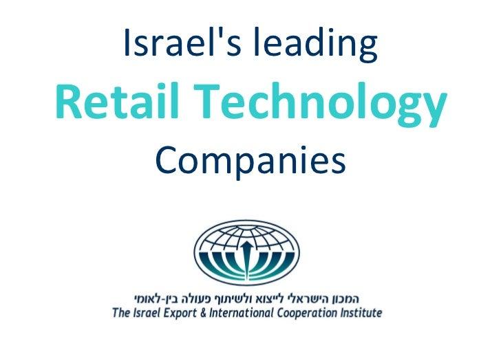 Israels leadingRetail Technology    Companies