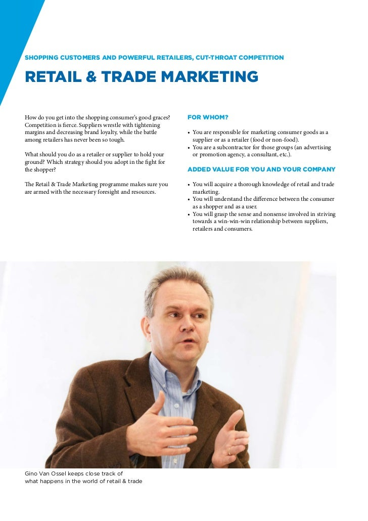 Shopping customers and powerful retailers, cut-throat competitionRetail & Trade MarketingHow do you get into the shopping ...