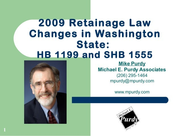 Retainage Law Changes In Washington State