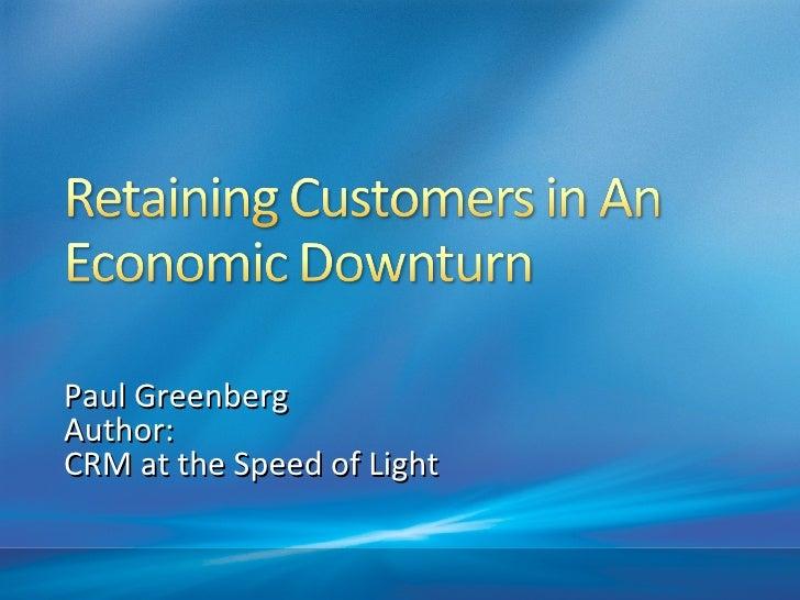 Retaining Customers In An Economic Downturn03