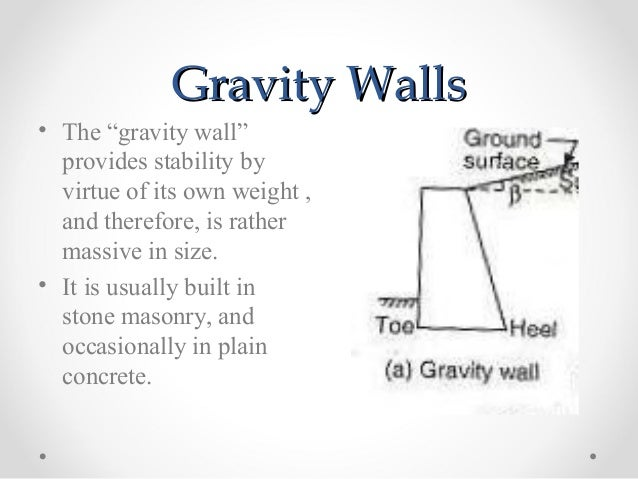 Gravity Retaining Walls Sliding Wedge Comparison. Retaining Wall