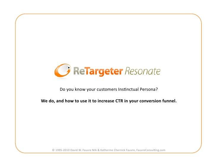 ReTargeter Resonate-Ad Optimization Deck