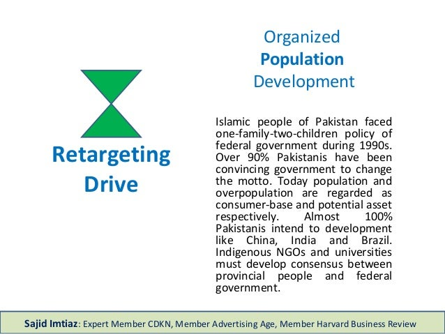 Retargeting Drive Organized Population Development Islamic people of Pakistan faced one-family-two-children policy of fede...