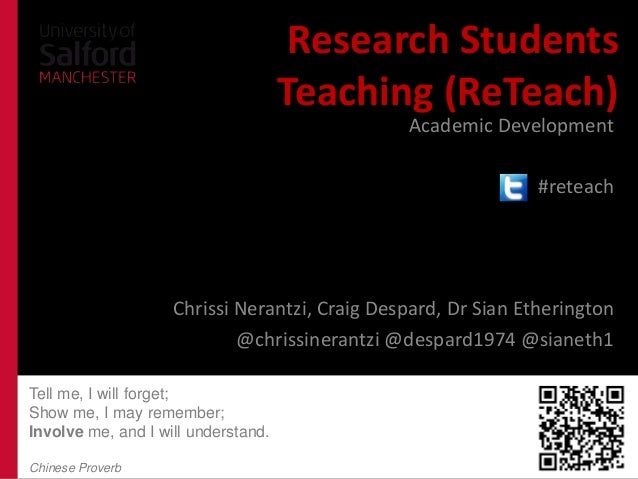 teaching students the research apaper What impact will the new teaching schools have on education will the new teaching schools have on teaching practice with the latest research is a key.