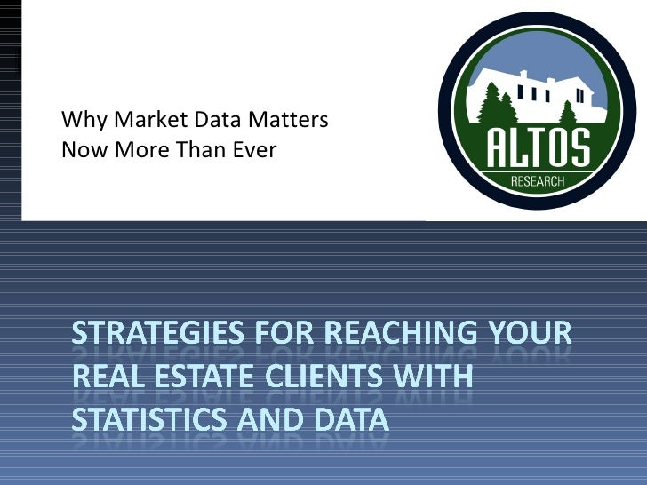Retech South09 Altos -Why Market Data Matters Now More Than Ever