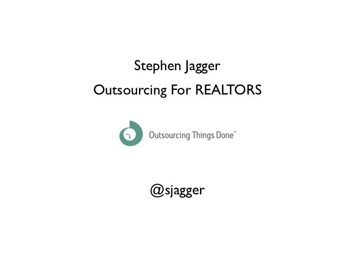 RETechSouth Outsourcing For Realtors
