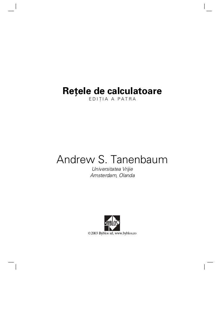 Retele ed4 tanenbaum(romana)