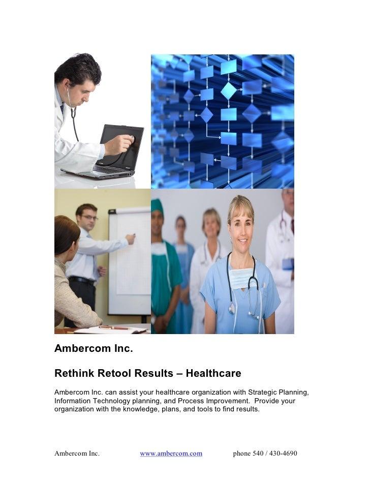 Rethink Retool Results - Health Care