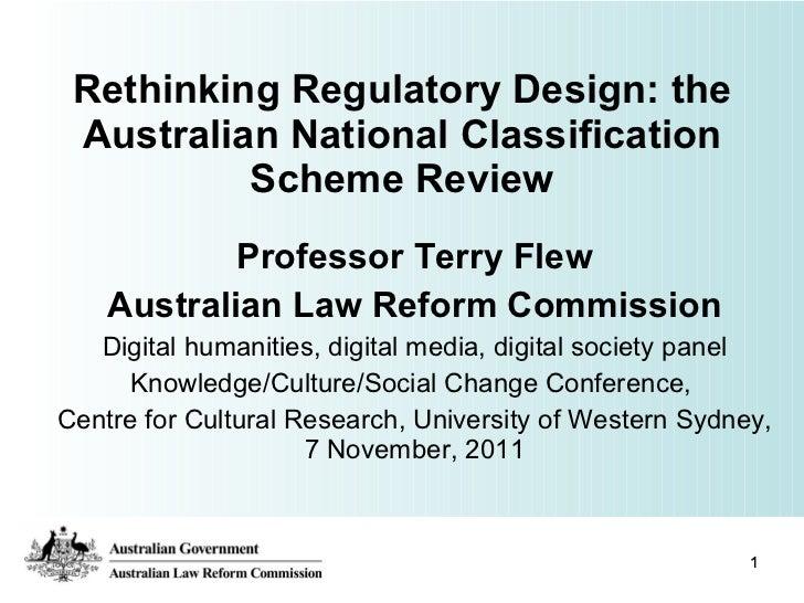 Rethinking regulatory design uws conference 7 november 2011