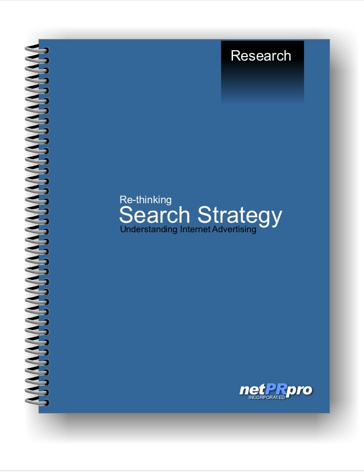 ReThinking Search Strategy from netPRpro, Inc.