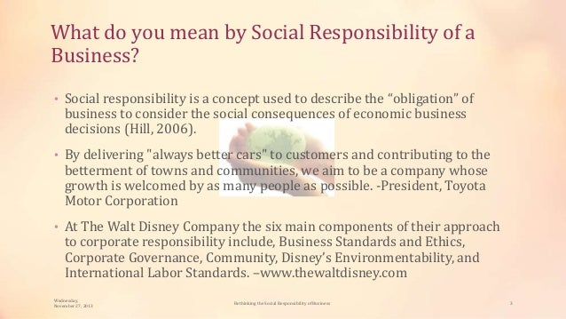 essay on social responsibility of business