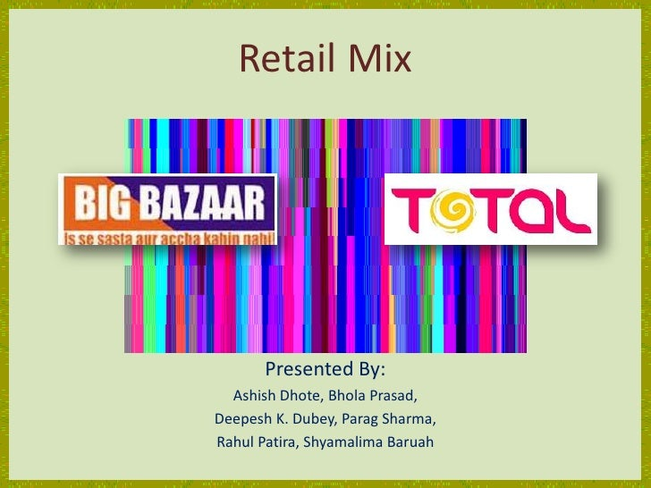 big bazaar marketing mix Manual's bank project report on consumer behavior at big bazaar customer perception towards the marketing mix on big bazaar vodafone consumer consumer behaviour.