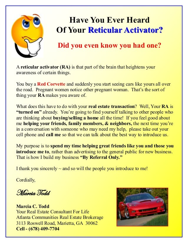Have You Ever Heard Of Your Reticular Activator?Reticular Activator? Did you even know you had one? A reticular activator ...