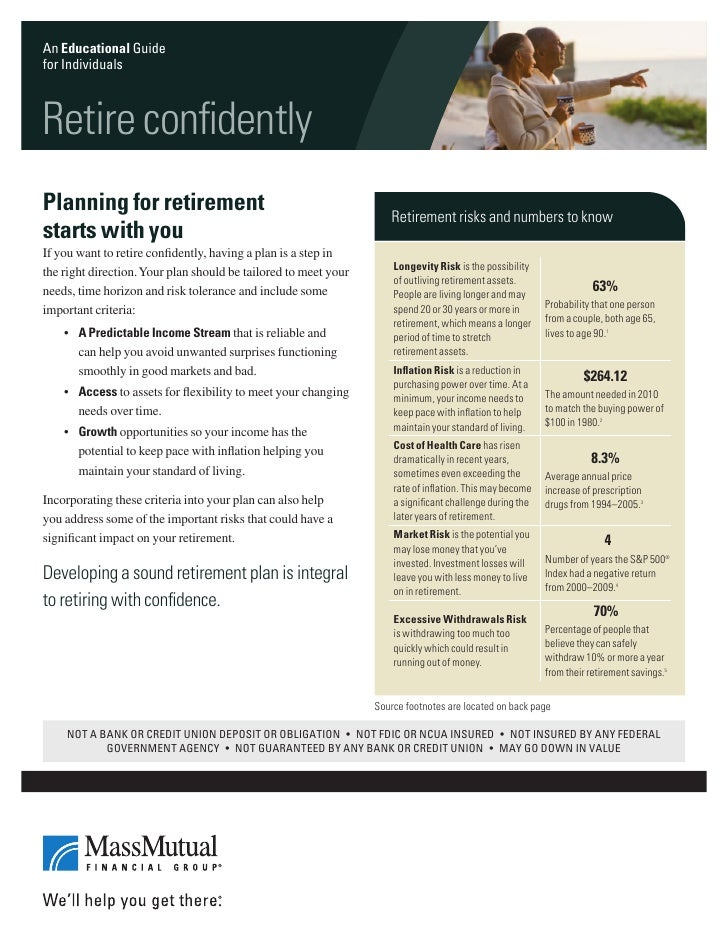 An Educational Guidefor IndividualsRetire confidentlyPlanning for retirement                                             R...
