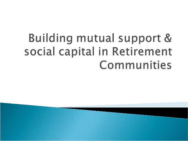 'Bonding' capital:    'Bridging' capital: between  within scheme      scheme & wider community