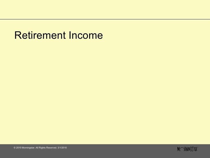 Retirement Income   1110
