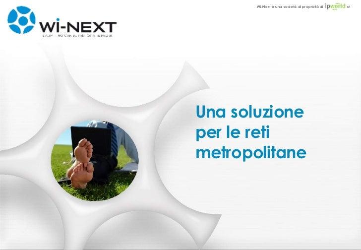 Reti Wireless Metropolitane