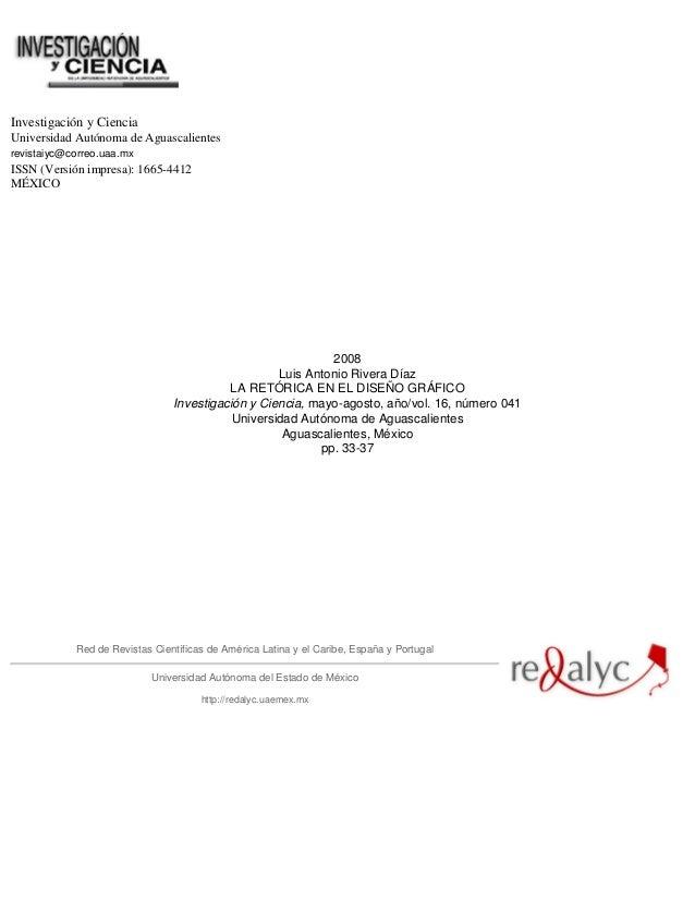 Investigación y CienciaUniversidad Autónoma de Aguascalientesrevistaiyc@correo.uaa.mxISSN (Versión impresa): 1665-4412MÉXI...