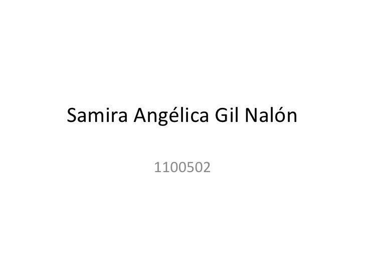 Samira Angélica Gil Nalón         1100502