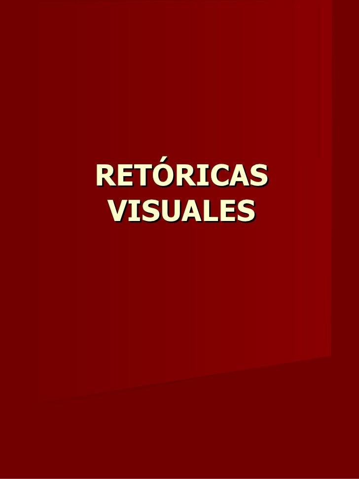 RETÓRICAS VISUALES
