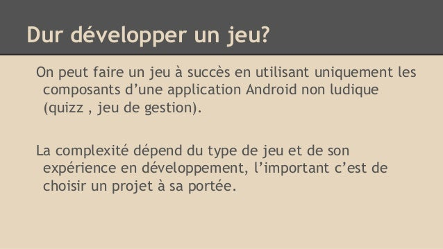 retour d u0026 39 exp u00e9rience d u00e9veloppement jeux android