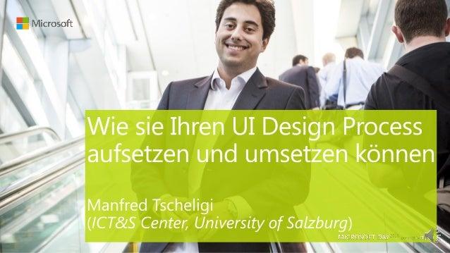 1. Was macht ein UI erfolgreich?2. Warum braucht man einen Prozess?3. User Centred Design4. Take Away
