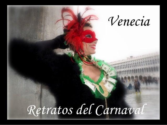 Venecia Retratos del Carnaval
