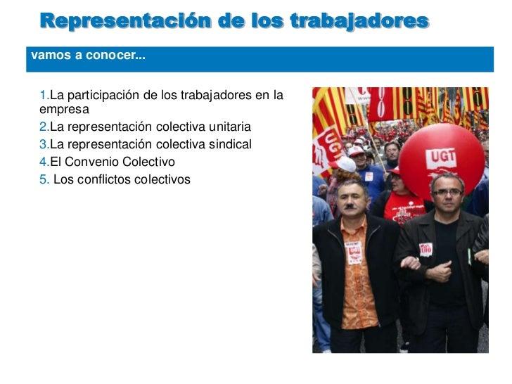 vamos a conocer...<br />Representación de los trabajadores<br />La participación de los trabajadores en la empresa<br />La...