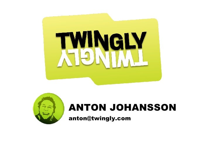 ANTON JOHANSSON [email_address]