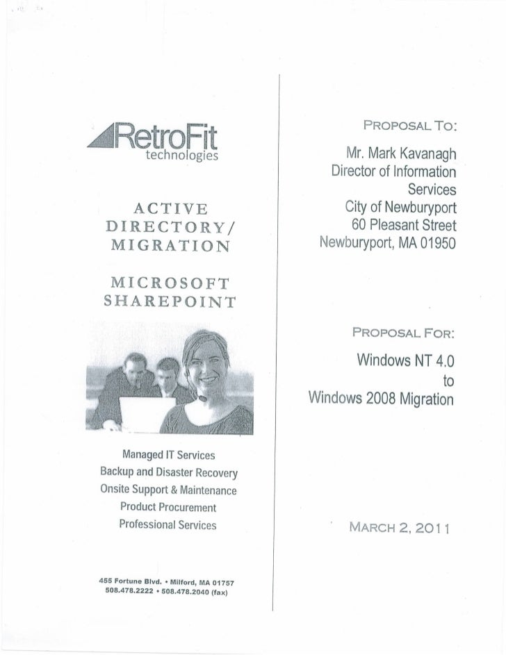 Retrofit technologies Proposed Contract  - Active Directory and Sharepoint